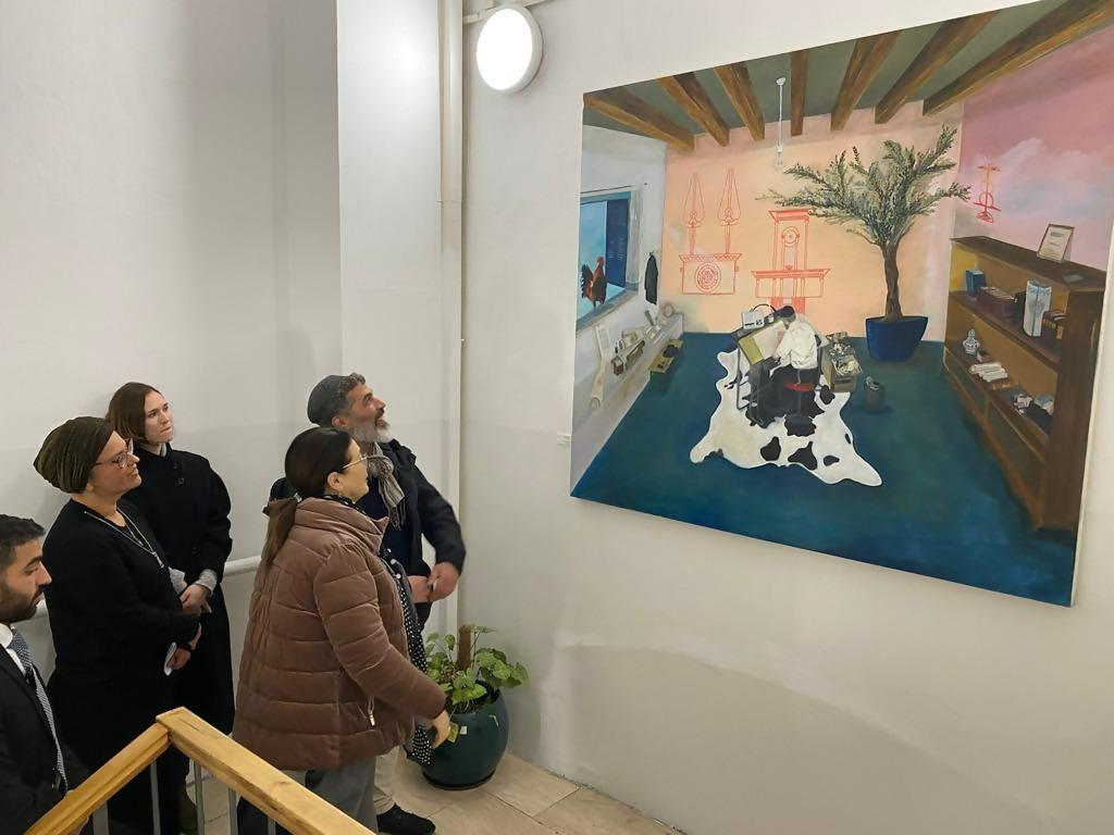 אירוע הפתיחה של התערוכה (צילום: דוברות הרשות השופטת)