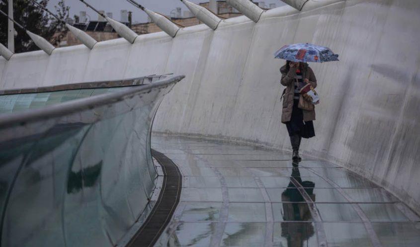 חורף וגשם בירושלים (צילום: אמיל סלמן)