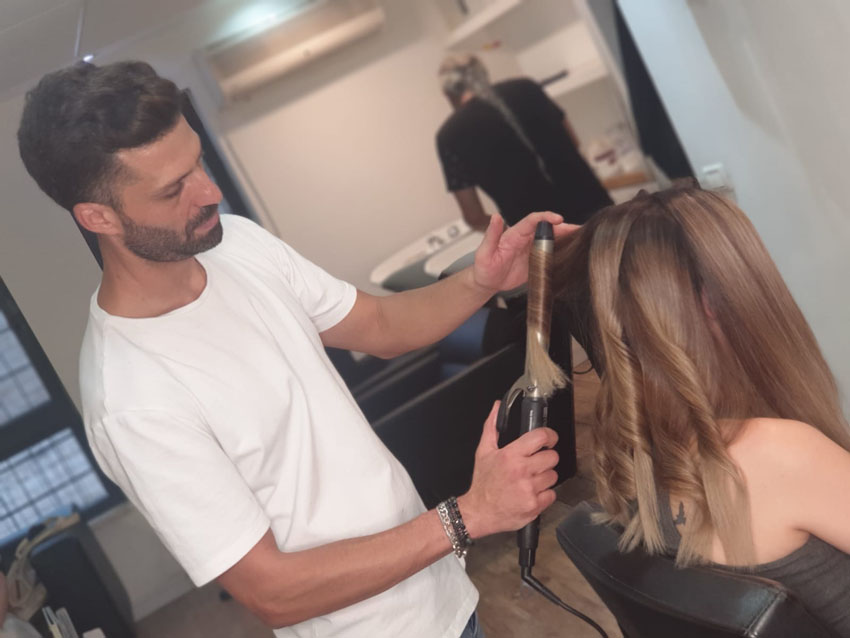 יניב בן עיצוב שיער (צילום: אביתר שילוני)