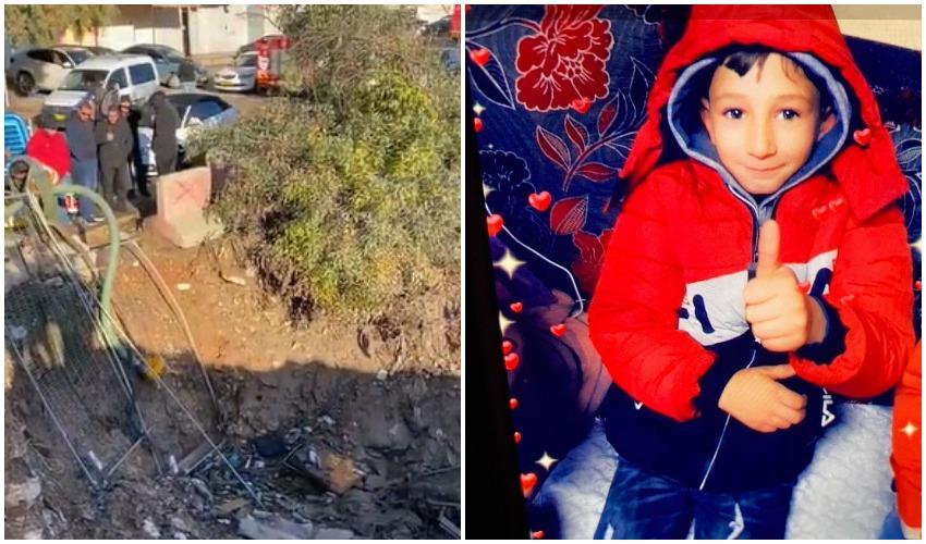 הילד שנעדר, בור המים שבו נמצא הילד (צילומים: דוברות המשטרה)