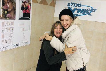 מריה פיקלובה והמרצה נאווה שחורי (צילום: מכללת אורט ירושלים)