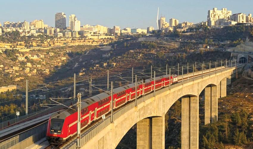 רכבת ירושלים תל אביב (צילום: רכבת ישראל)