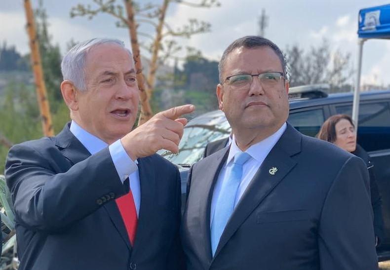 משה ליאון, בנימין נתניהו (צילום: דוברות עיריית ירושלים)