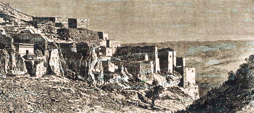 """עיר הקברים שמתחת לכפר סילוואן (צילום: רפרודוקציה באדיבות ד""""ר אדם אקרמן)"""