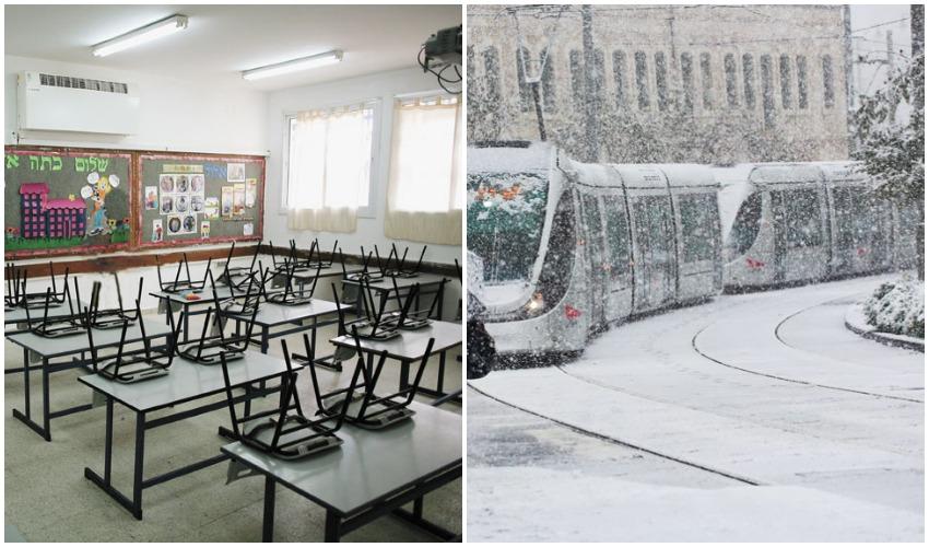 שלג בירושלים, כיתה (צילומים: אוליבייה פיטוסי, אילן אסייג)