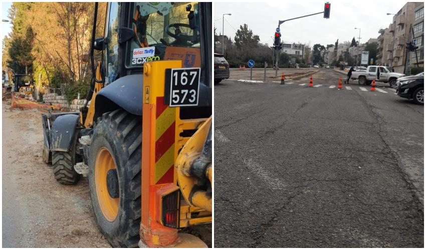 חסימת רחוב עזה לתנועה, העבודות ברחוב עזה (צילומים: פרטי, באדיבות התעוררות)