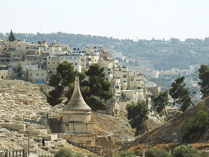 עיר הקברים שמתחת לכפר סילוואן (צילום: עזרא קפרי)