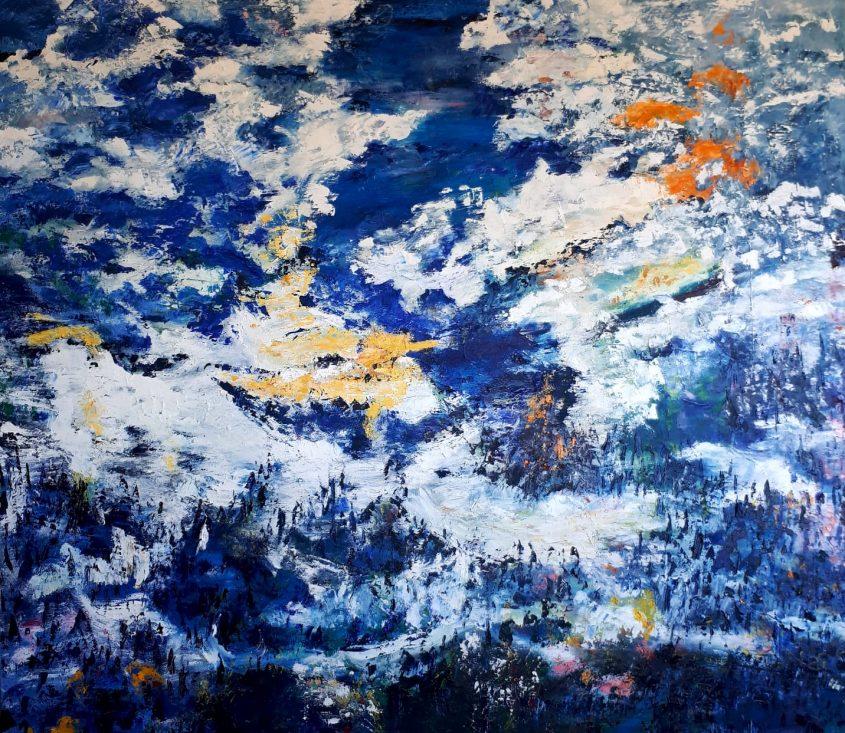 """יצירה של נעמי חנוכה - תערוכה של נכות צה""""ל (צילום: ארגון נכי צה""""ל)"""