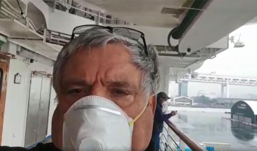 שמעון דהן על ספינת הקורונה - צילום עצמי