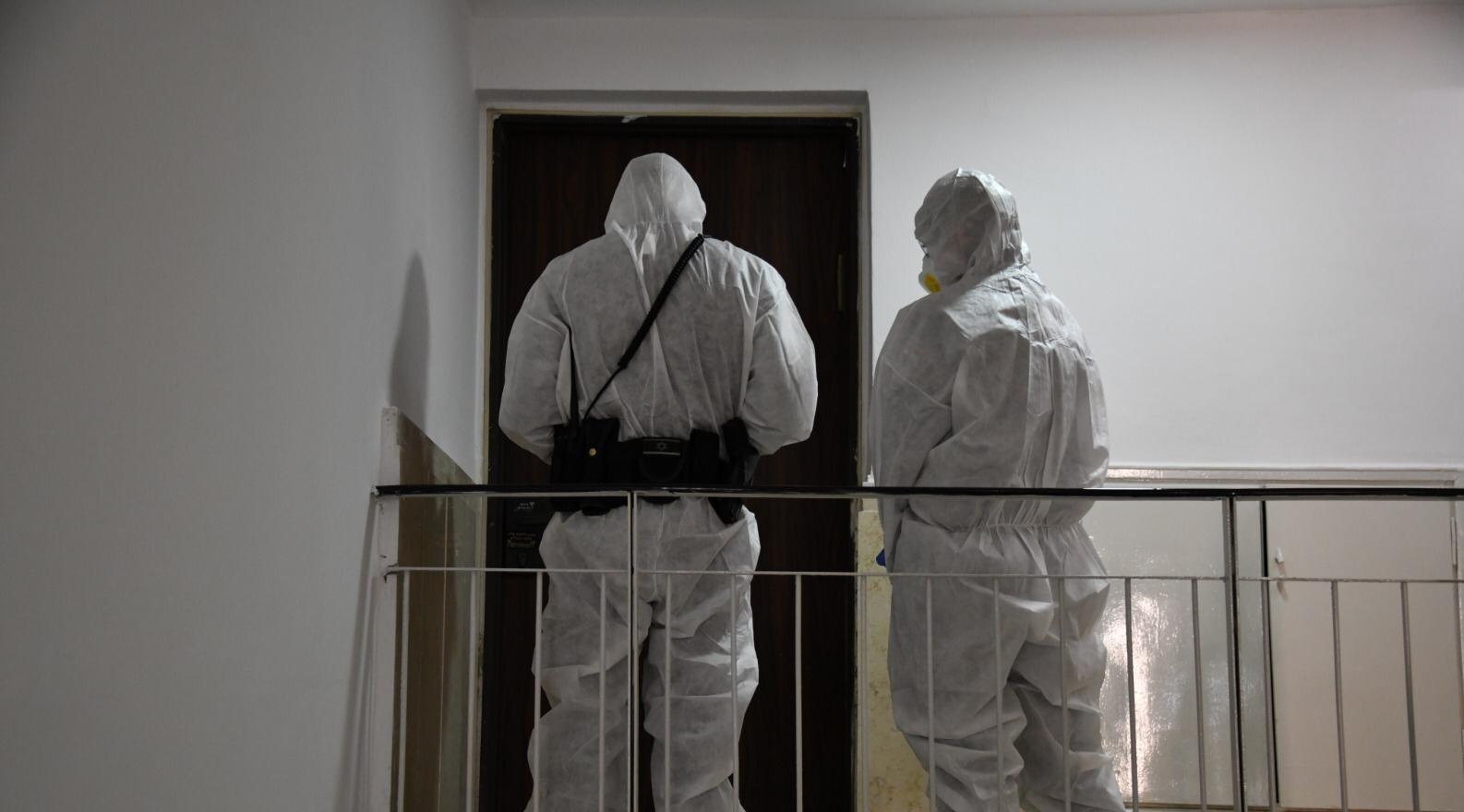 מיגון מפני קורונה (צילום: דוברות המשטרה)