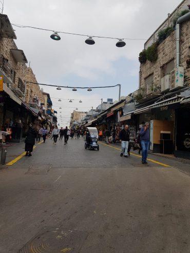 שוק מחנה יהודה ריק מאדם, בעת משבר הקורונה (צילום: רננה)