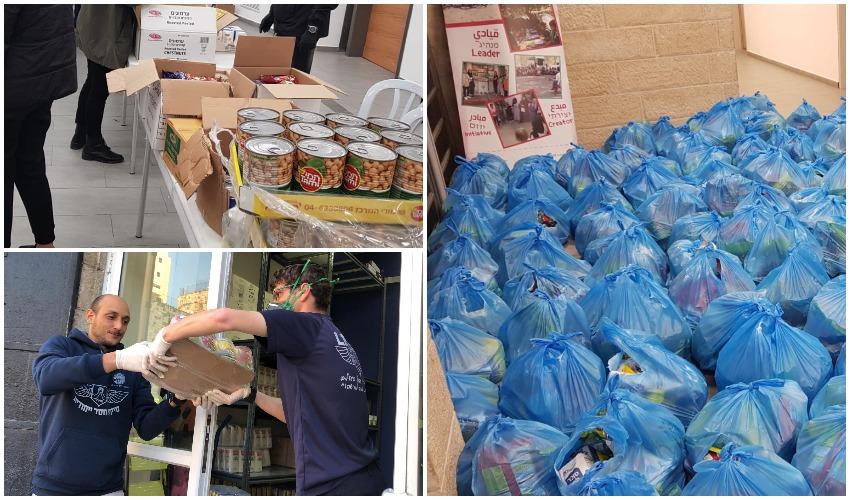חלוקת סלי מזון בירושלים למשפחות לקשישים - משבר הקורונה (צילומים: עיריית ירושלים)