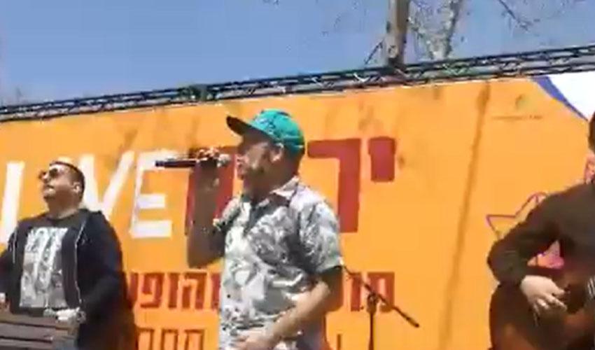 הופעה של שאנן סטריט (צילום: שמואל אדלר, בשיתוף קבוצת זאפה)
