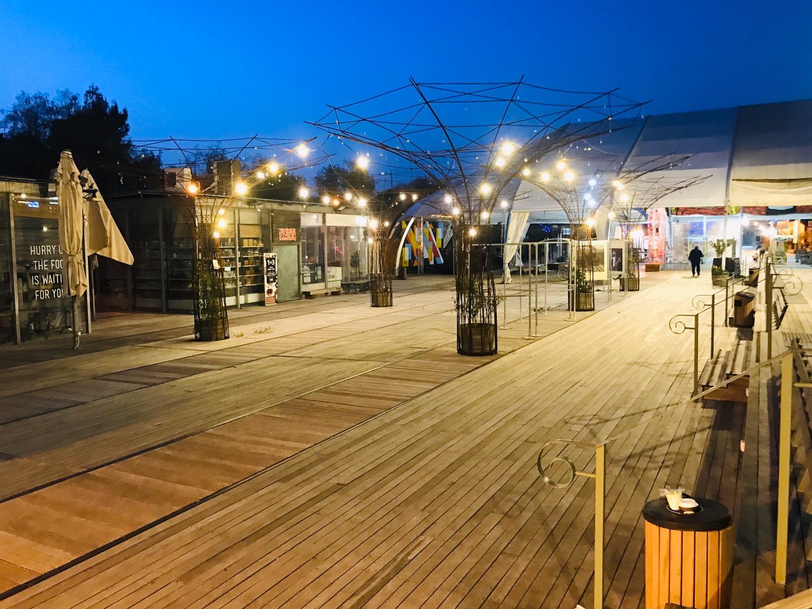 מתחם התחנה - ריק מאנשים בזמן משבר הקורונה (צילום: פרטי)