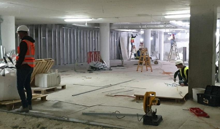 בית החולים התת קרקעי לחולי קורונה במרכז הרפואי הרצוג (צילום: המרכז הרפואי הרצוג)