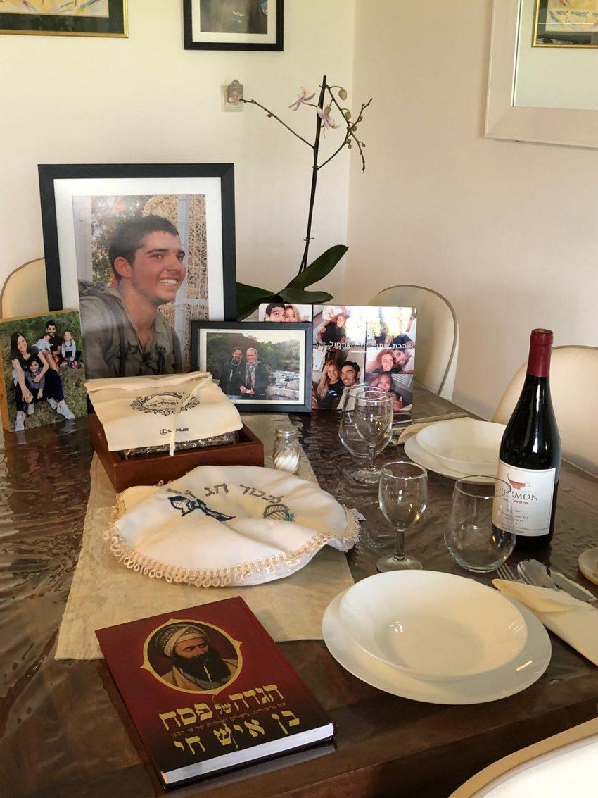 שולחן ליל הסדר בבית משפחת גדעוני (צילום: באדיבות המשפחה)