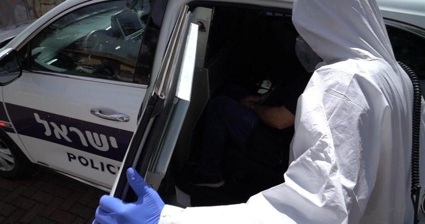 המאבק בהתפשטות הקורונה (צילום: דוברות המשטרה)