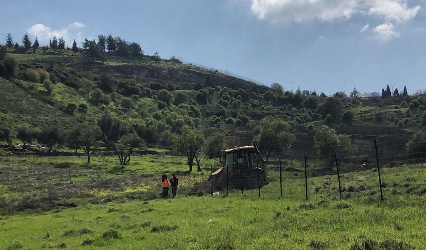 העבודות בעמק הזיתים, מורדות ארנונה (צילום: שדולת ירושלים בת קיימא)