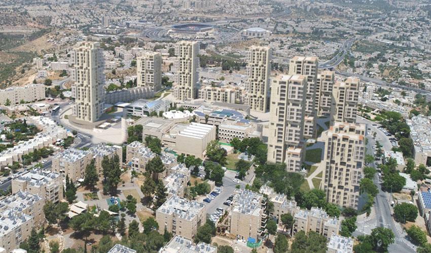 התוכנית להתחדשות עירונית בשכונת גילה (הדמיה: משרד אוקא אדריכלים)