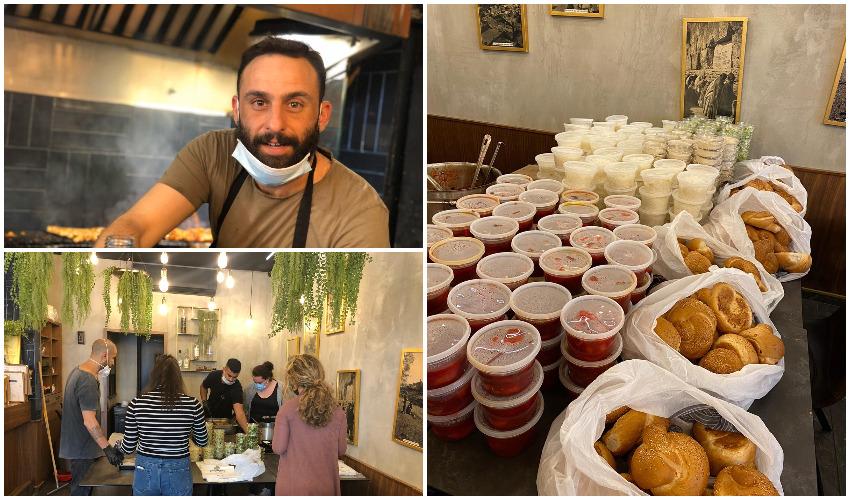 שף אסף סבח, מנות המזון שהכינו במסעדת יהודית (צילומים: פרטי)