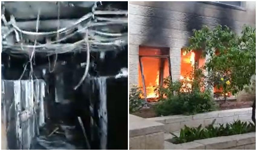 השריפה ונזקיה (צלומים: פרטי)