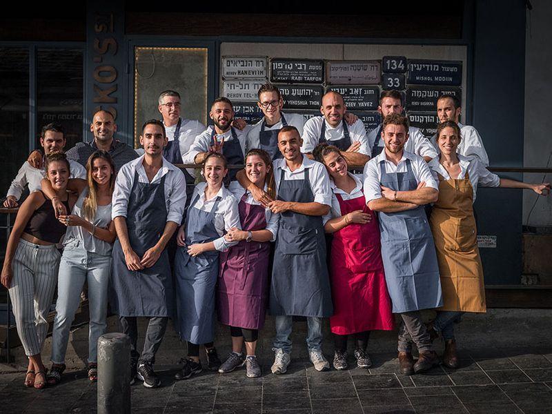 צוות מסעדת ג'קו סטריט (צילום: מתוך דף ההד סטארט של המסעדה)