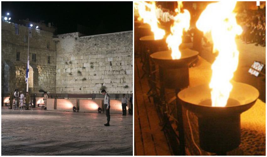 יום הזיכרון לשואה ולגבורה ביד ושם, יום הזיכרון לחללי מערכות ישראל ונפגעי פעולות האיבה בכותל המערבי צילומים באדיבות יד ושם, אוליבייה פיטוסי