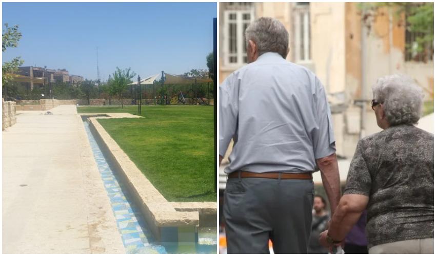 אילוסטרציה קשישים, פארק גוננים (צילומים: אורן זיו, מיכל פישמן-רואה)