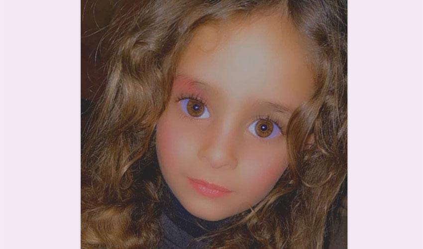 רפיף אל-קראעין, בת ה-4 (צילום: רץ ברשת מפורסם לפי סעיף 27 א לחוק זכויות היוצרים להוספת קרדיט נא לפנות למערכת)