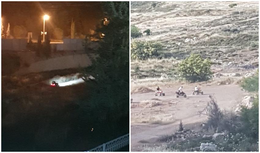 ביום וגם בלילה - הטרקטורונים ביער רמות (צילומים: פרטי)