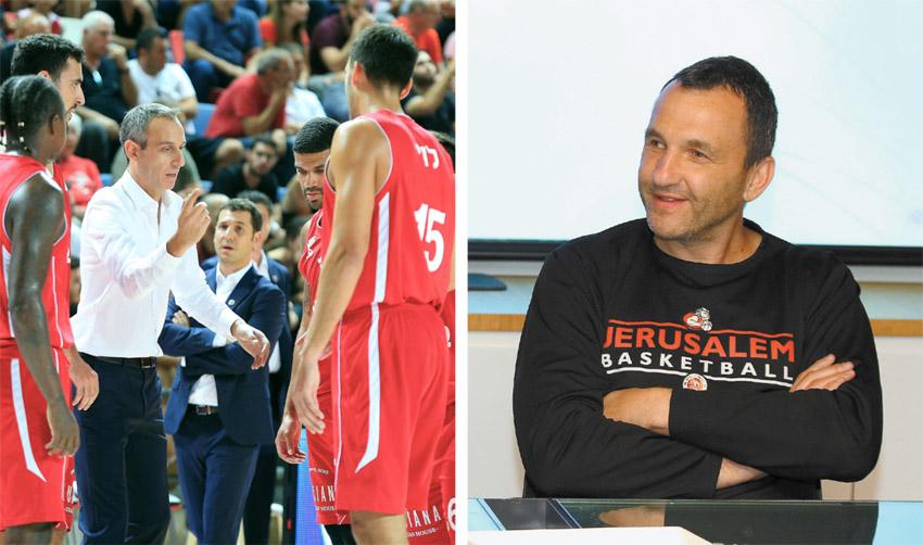 איל חומסקי, שחקני הפועל ירושלים (צילומים: שרון בוקוב)