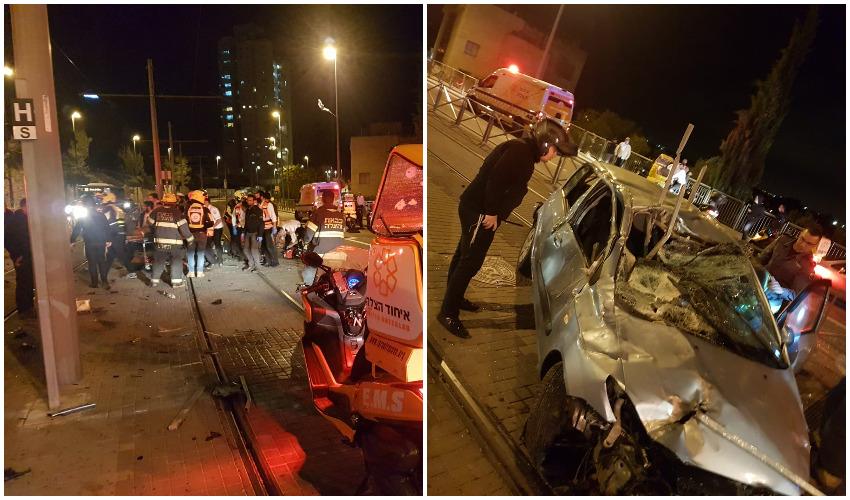 זירת התאונה בשדרות הרצל (צילומים: איחוד הצלה)