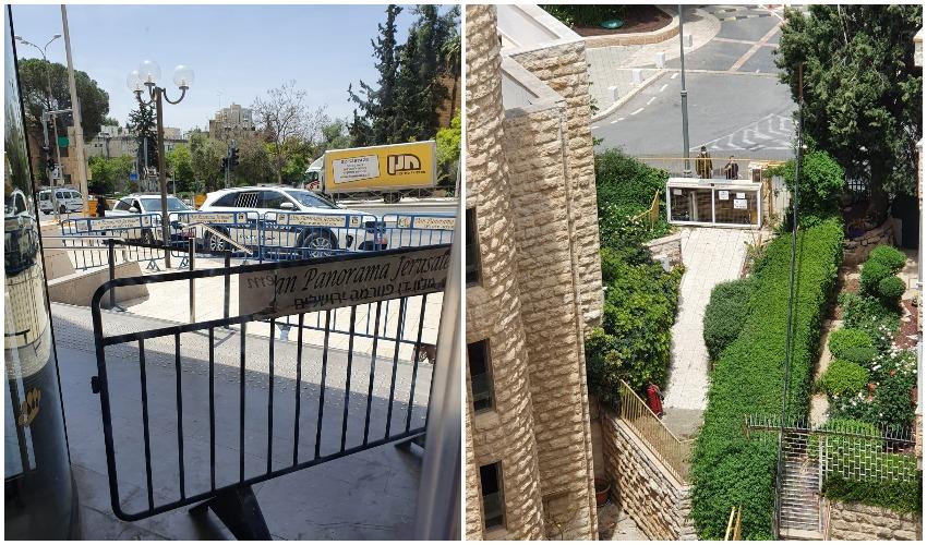 אדם נמלט ממלון הקורונה דן פנורמה (צילום: מחאות החרדים הקיצוניים)