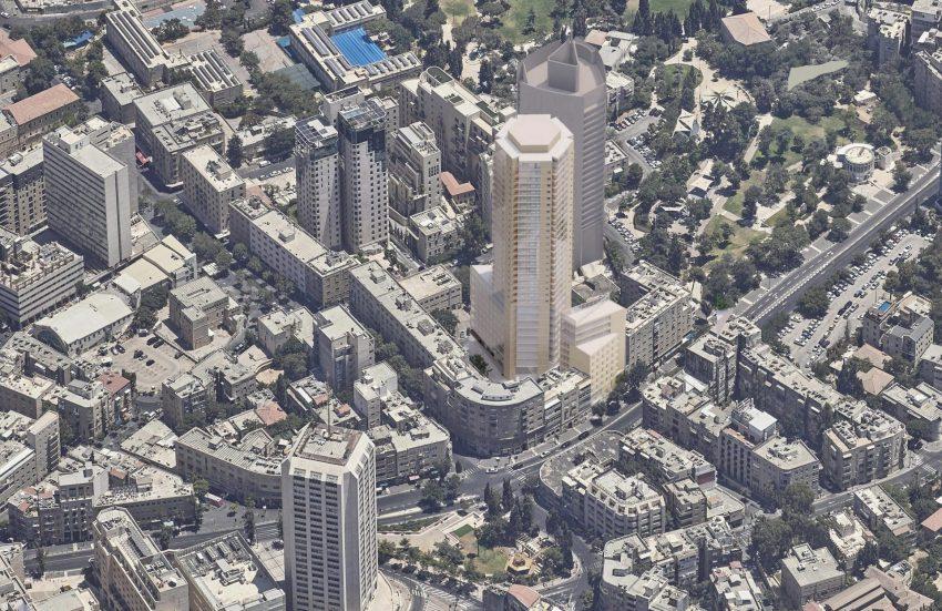דיור להשכרה במגדל פזגז (הדמיה: פיי-קוב-פריד אדריכלים)