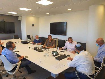 הפגישה שנערכה השבוע בעיריית ירושלים (צילום: פרטי)