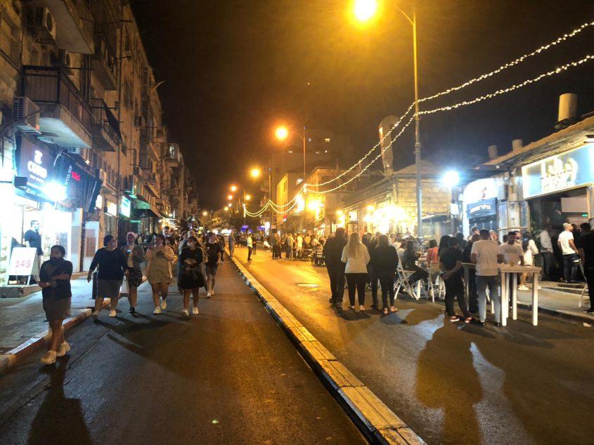 מדרחוב אגריפס, שוק מחנה יהודה, אתמול (צילום: רון ירקוני יחסי ציבור)