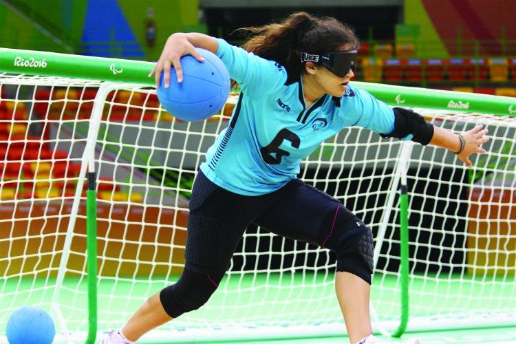 שחקנית כדור-שער (צילום: באדיבות בית חינוך עיוורים)