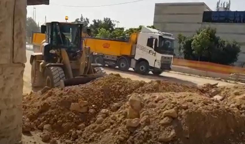 מתוך הסרטון שמתעד את העבודות במלחה (צילום: פרטי)