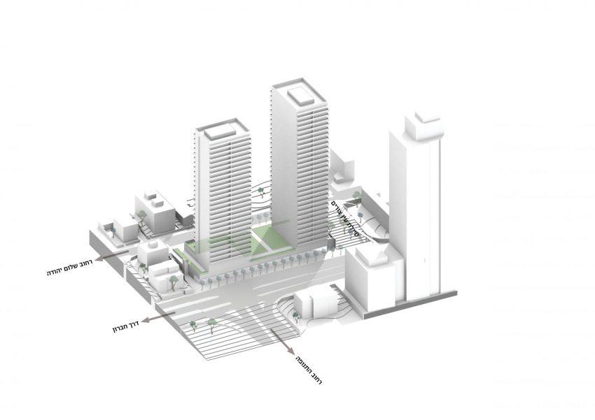 התוכנית בדרך חברון (הדמיה: HQ אדריכלים)
