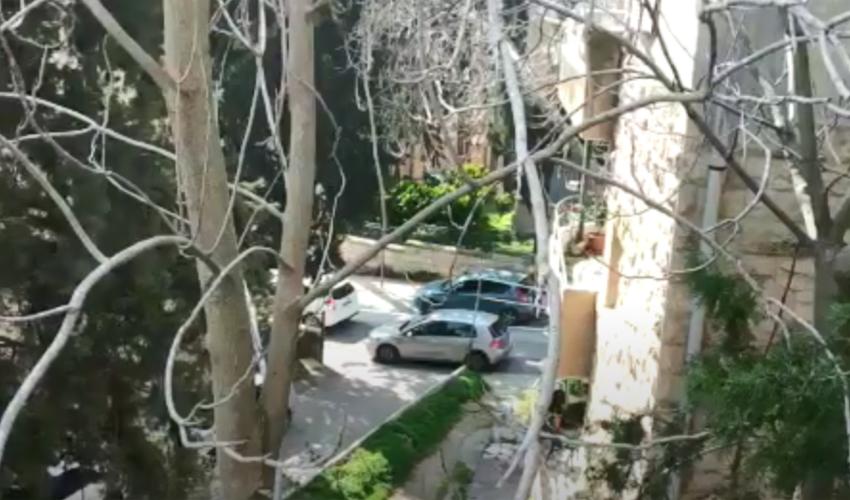 מתוך סרטון המתעד את הצפירות ברחביה (צילום: שרה מאיר)