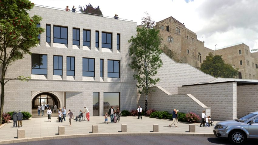 הדמיה של המעלית לכותל (צילום: החברה לפיתוח הרובע היהודי)