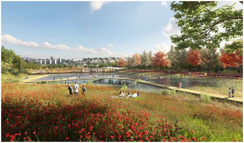 הדמיית פארק האסבסטונים (הדמיה: חברת ברוק הדמיות)