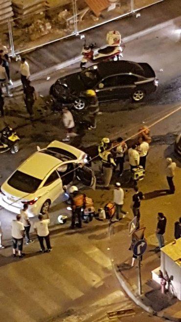 זירת התאונה השבוע ברחוב צביה ויצחק בגילה (צילום: עופר איובי)