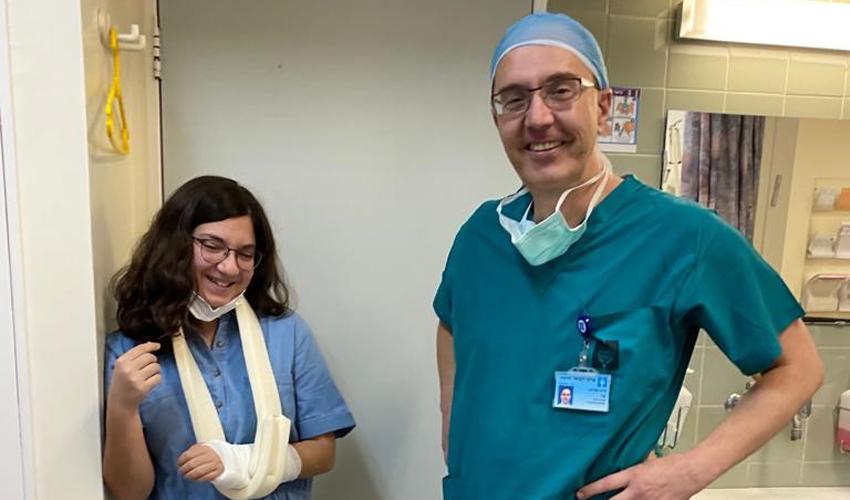 """ד""""ר שי לוריא ונילי אימבר (צילום: דוברות הדסה)"""