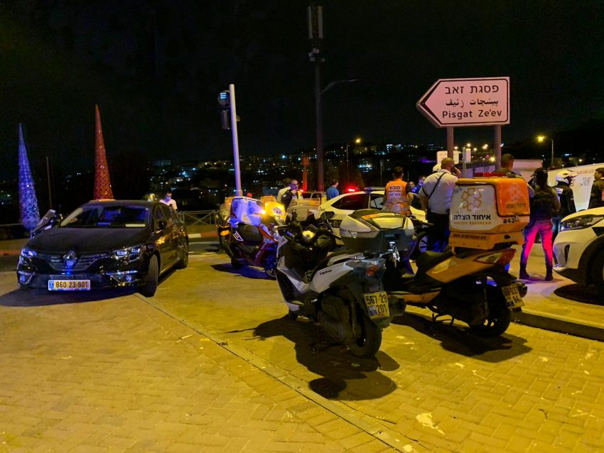 פגיעת הרכב בשוטרת בפסגת זאב: פיגוע דריסה או תאונת פגע וברח?