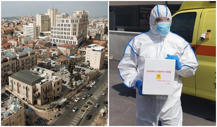 """בדיקות קורונה, מרכז העיר (צילומים: תיעוד מבצעי מד""""א, סיוון גיל)"""