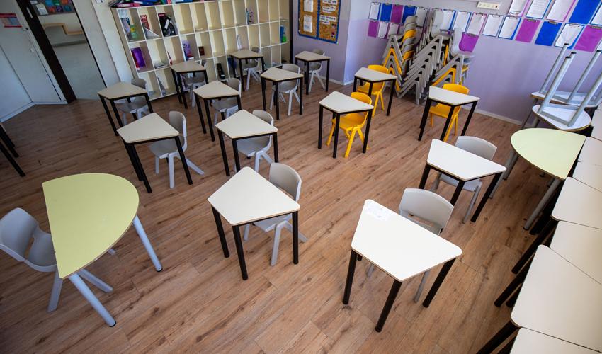 בית ספר קשת במתכונת קורונה (צילום: אמיל סלמן)