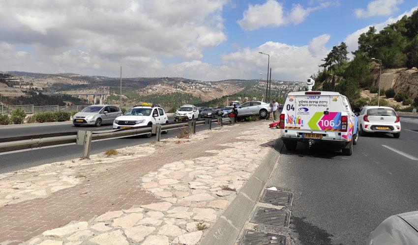 תאונה בכביש בגין (צילום: פרטי)