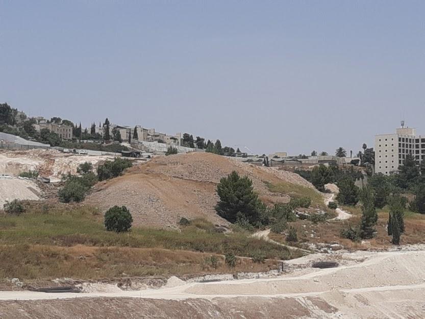 """ארנונה,הגבעה המכוסה באבני צור (צילום: ד""""ר אדם אקרמן)"""
