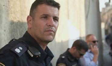 סגן ניצב ניסו גואטה, קצין המבצעים של מרחב ציון במשטרת ירושלים (צילום: כאן 11)